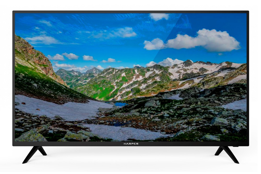 "Телевизор Harper 40F750TS LED 40"" Black, Smart TV, 16:9, 1920x1080, 80000:1, 260 кд/м2, USB, HDMI, Wi-Fi, RJ-45, DVB-T, T2, C, S2"