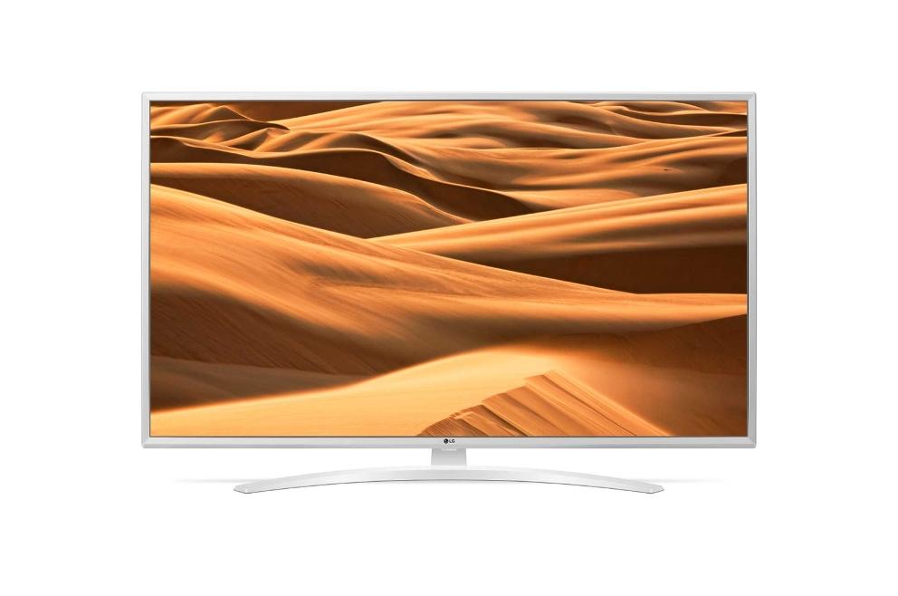 Телевизор LG 49UM7490 LED 49 White, 16:9, 3840x2160, Smart TV, 3xHDMI, 2xUSB, AV, RJ-45, Wi-Fi, DVB-T, T2, S, S2, C телевизор lg 32lk615b led 32 black 16 9 1366x768 smart tv usb av 3xhdmi rj 45 wi fi dvb t t2 c s s2