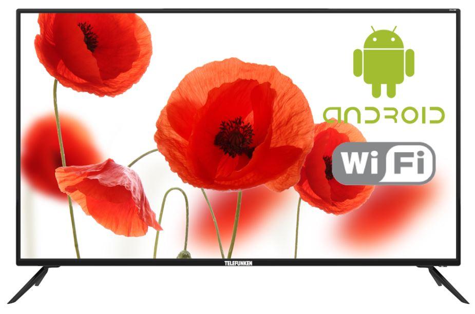 Телевизор LED 50 TELEFUNKEN TF-LED50S84T2SU черный, ULTRA HD, SMART TV, Wi-Fi, Android 7.0, DVB-T/DVB-T2/DVB-C/DVB-S/DVB-S2 Black, Smart TV, 16:9, 3840x2160, 5 000:1, 370 кд/м2, USB, HDMI, VGA, noS-V телевизор 32pr ht2 tv dvb t2 hdmi usb vga av ios fullhd 32телевизор led32tv телевизор tv