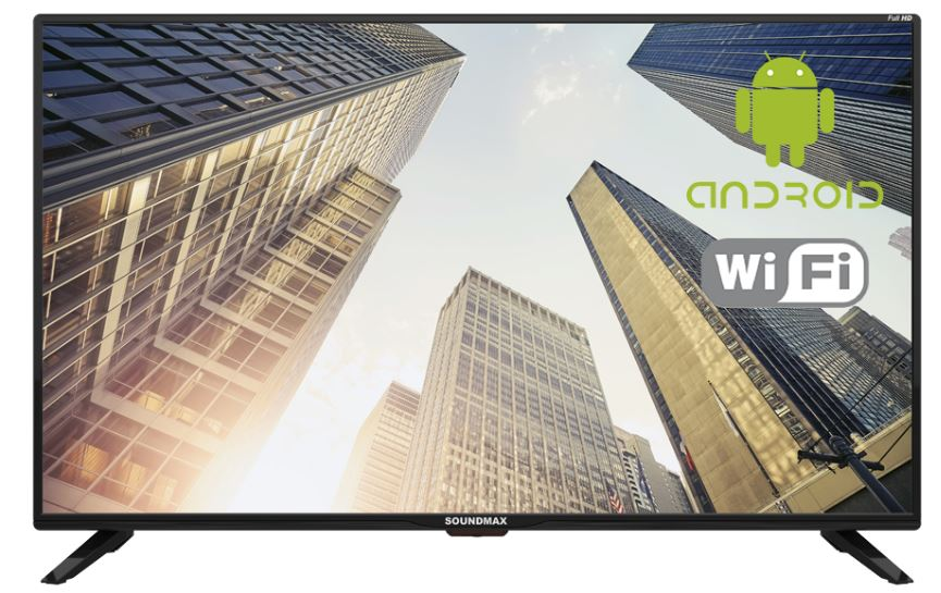 "Телевизор Soundmax SM-LED43M01S LED 43"" Black, Smart TV, 16:9, 1920 x 1080, 4 000:1, 270 кд/м2, USB, HDMI, VGA, noS-Video, Wi-Fi, RJ-45, DVB-T/T2, DVB-C"
