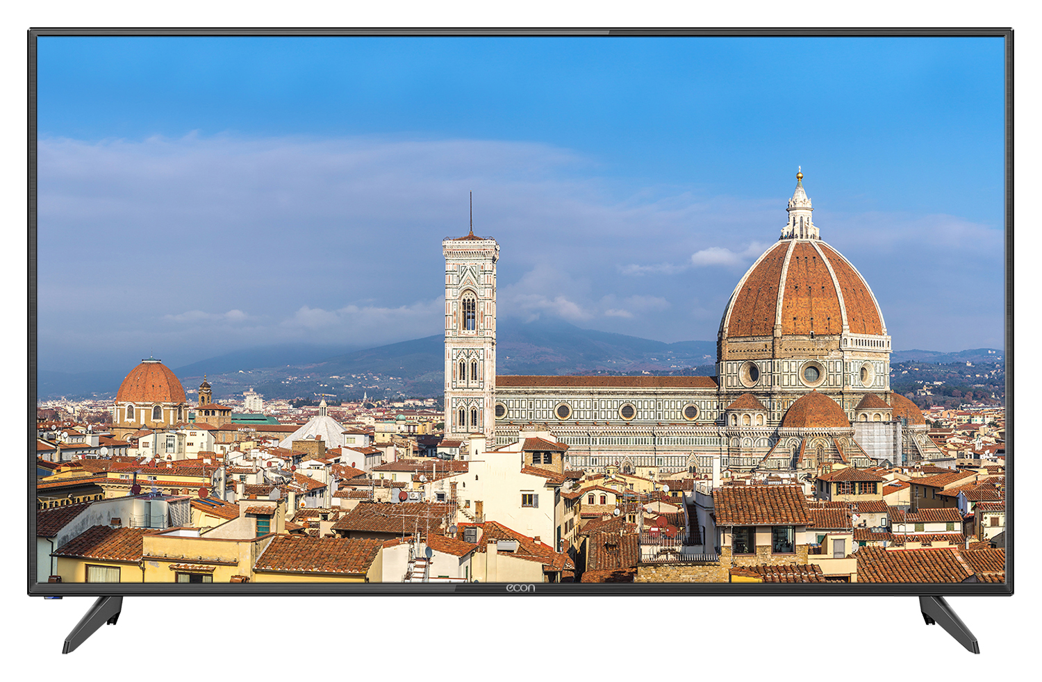 "Телевизор ECON EX-50FS001B LED 50"" Black, Smart TV, 16:9, 1920x1080, 160000:1, 300 кд/м2, USB, HDMI, VGA, AV, Wi-Fi, RJ-45, DVB-T2, C, S, S2"