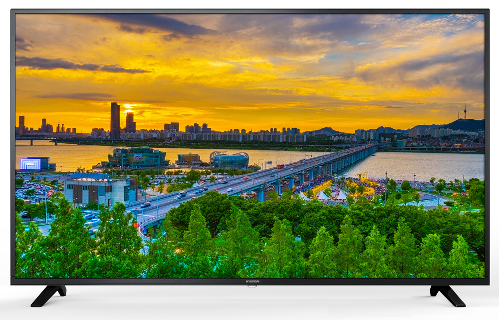 "Телевизор Hyundai H-LED55U602BS2S LED 55"" Black, Smart TV, 16:9, 3840x2160, 1200:1, 280 кд/м2, USB, HDMI, AV, Wi-Fi, RJ-45, DVB-T2, C, S2"