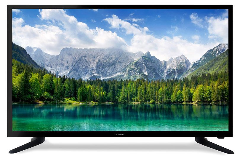 "Телевизор StarWind SW-LED39R401BT2S LED 39"" Black, Smart TV, 16:9, 1366х768, 3000:1, 230 кд/м2, USB, HDMI, VGA, Wi-Fi, RJ-45, DVB-T, T2, C"