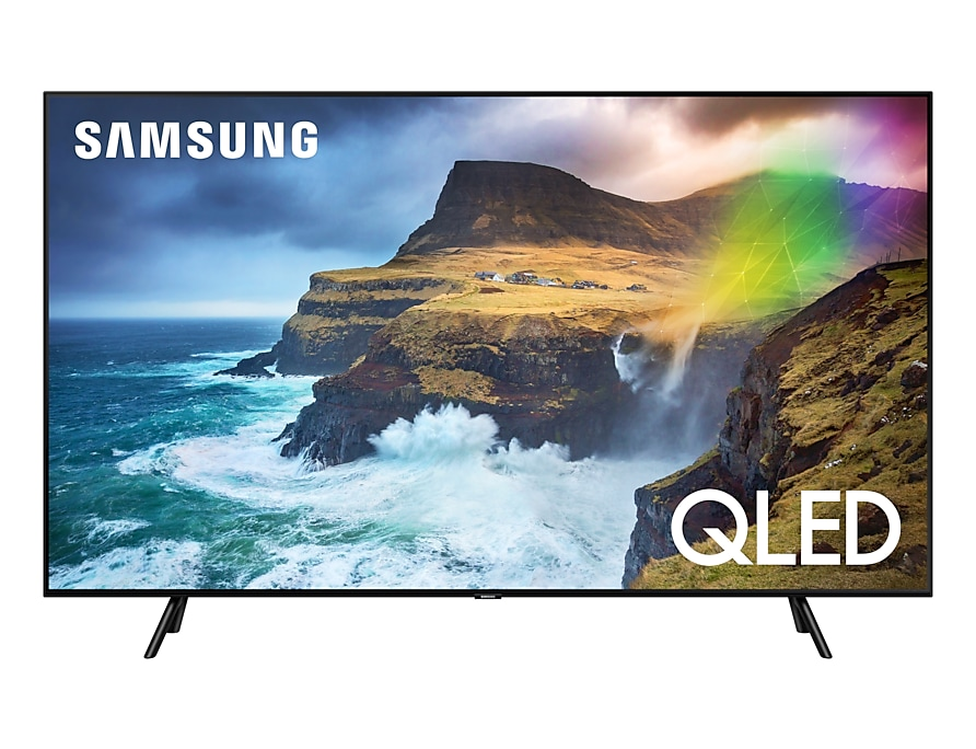 "Телевизор Samsung QE55Q70RAUXRU LED 55"" Black, Smart TV, 16:9, 3840x2160, USB, HDMI, Wi-Fi, RJ-45, DVB-T2, C, S2"