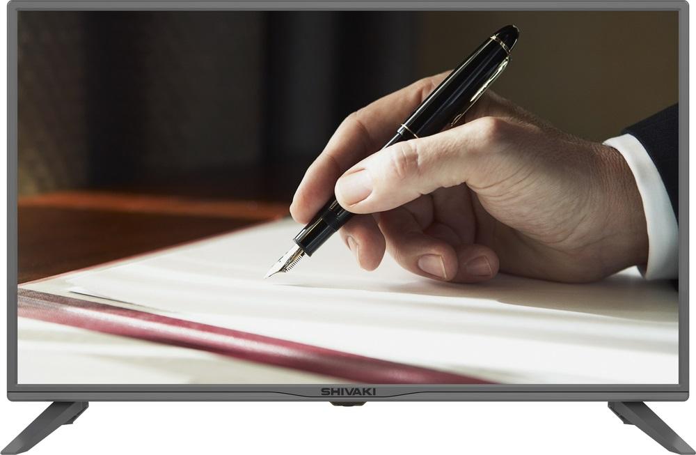 Фото - Телевизор SHIVAKI STV-32LED25 LED 32 Gray, 16:9, 1366х768, 3000:1, 200 кд/м2, USB, HDMI, VGA, AV, DVB-T, T2, C, S, S2 телевизор shivaki stv 49led16 led 49 silver 16 9 1920x1080 3000 1 250 кд м2 2xusb vga 3xhdmi scart av dvb t t2 c s2