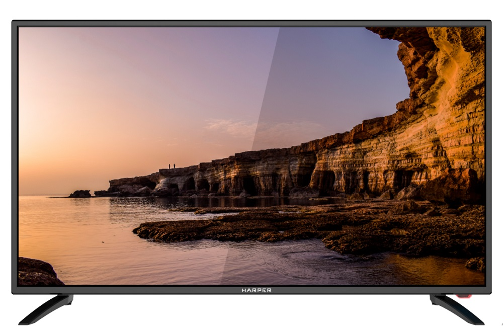 "Телевизор HARPER 40F6750TS LED 40"" Black, Smart TV, 16:9, 1920x1080, 80000:1, 250 кд/м2, USB, HDMI, AV, Wi-Fi, DVB-T, T2, C, S2"