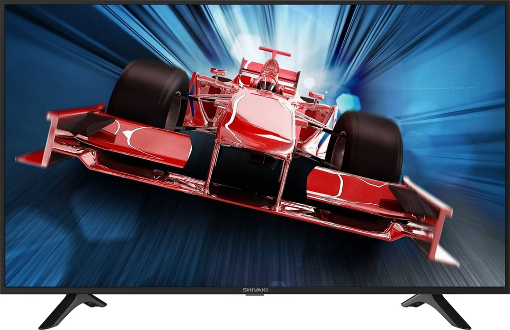 "Телевизор SHIVAKI STV-49LED42S LED 49"" Black, Smart TV, 16:9, 1920x1080, 4000:1, 260 кд/м2, USB, HDMI, AV, Wi-Fi, RJ-45, DVB-T, T2, C, S2"