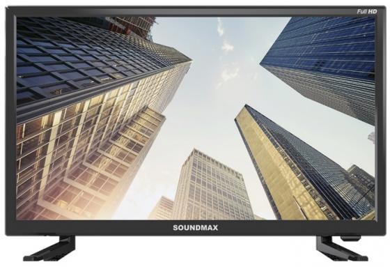 Фото - Телевизор Soundmax SM-LED22M03 LED 22 Black, 16:9, 1920x1080, 4000:1, 240 кд/м2, USB, HDMI, VGA, AV, DVB-T, T2, C аксессуар чехол g case для samsung galaxy tab a 10 5 sm t590 sm t595 slim premium black gg 982