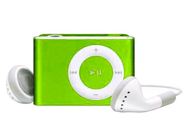 Цифровой аудио плеер Perfeo Music Clip Titanium, зелёный (VI-M001 Green)