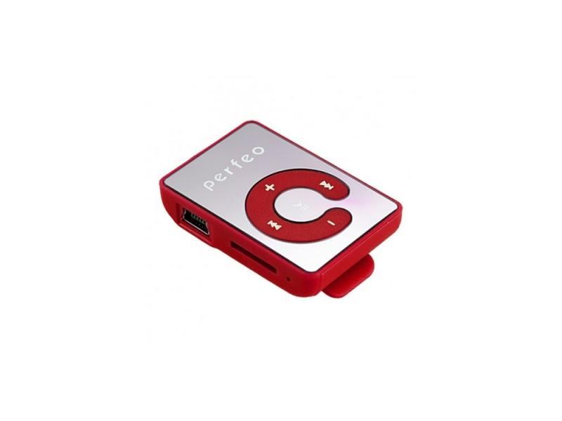 Цифровой аудио плеер Perfeo Music Clip Color, красный (VI-M003 Red) недорого