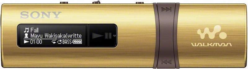 Плеер Sony NWZ-B183FN 4Гб золотистый ishoppingdeals bundle for sony walkman nwz e473 nwz e474 nwz e475 car home wall ac charger and usb data charging cable