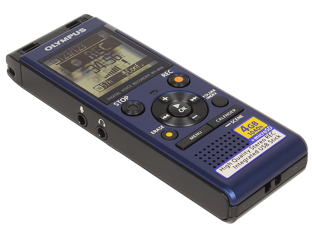 Диктофон Olympus WS-806 Blue 4 Гб, USB