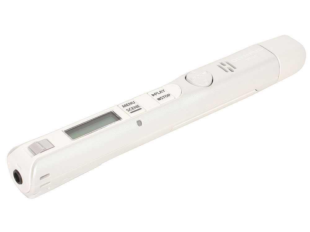 лучшая цена Диктофон Olympus VP-10 White 4Гб
