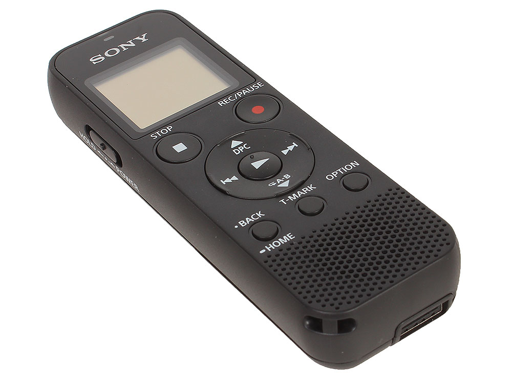 Диктофон Sony ICD-PX370 Цифровой диктофон, 4Гб, слот MS, чёрный sony icd sx2000 16g digital voice recorder usb port bluetooth remote