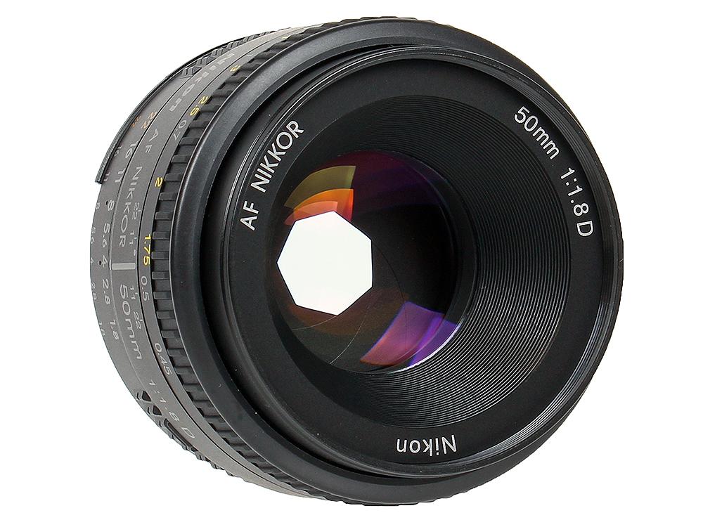Объектив Nikon AF 50mm f/1.8D Nikkor цена и фото