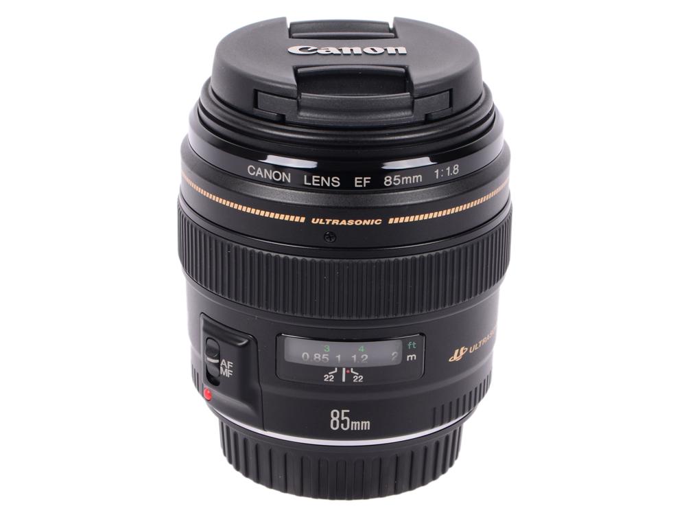 Объектив Canon EF 85mm F/1.8 USM 2519A012 свитшот мужской с полной запечаткой printio прозрачное озеро