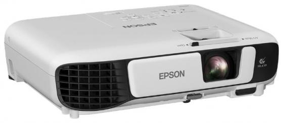 лучшая цена Проектор Epson EB-W42 LCDx3 1280x800 3600ANSI Lm 15000:1 VGA HDMI USB Wi-Fi белый V11H845040