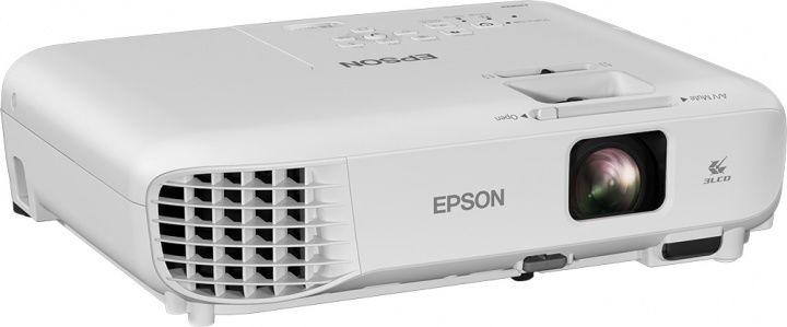 Мультимедийный проектор Epson EB-W05 White 3P-Si TFT / 1280 х 800 / 16:10 / 3300 Lm / 15000:1 проектор epson eb x05 lcdx3 1024x768 3300ansi lm 15000 1 vga hdmi usb белый v11h839040