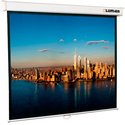 лучшая цена [LMP-100109] Настенный экран Lumien Master Picture 153х203 см Matte White FiberGlass (белый корпус), черн. кайма по периметру, возможность потолочн.