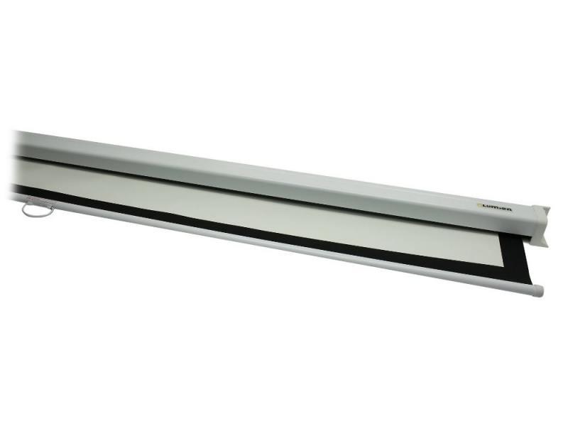 LMP-100133 Настенный экран Lumien Master Picture 141x220 см Matte White FiberGlass (бе-лый корпус) черн. кайма по периметру, возмо-жность потолочн цена 2017