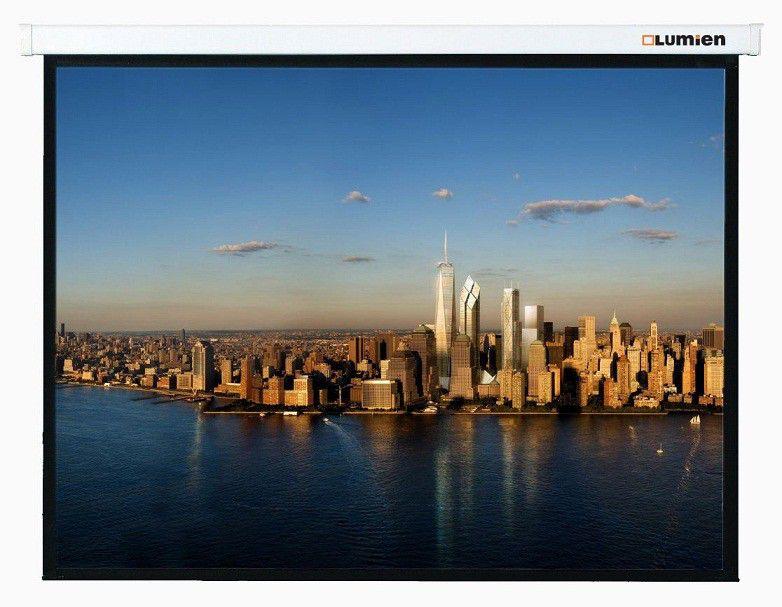 лучшая цена [LMP-100101] Настенный экран Lumien Master Picture 127х127 см Matte White FiberGlass, черн. кайма по периметру, воз-сть потолочного крепления 1:1