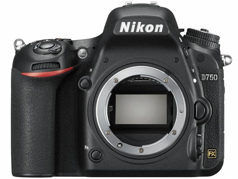 Зеркальный фотоаппарат Nikon D750 Body (VBA420AE) Black 24,93 Mp, 35.9 x 24.0 мм / max 6016 x 4016 / экран 3.2