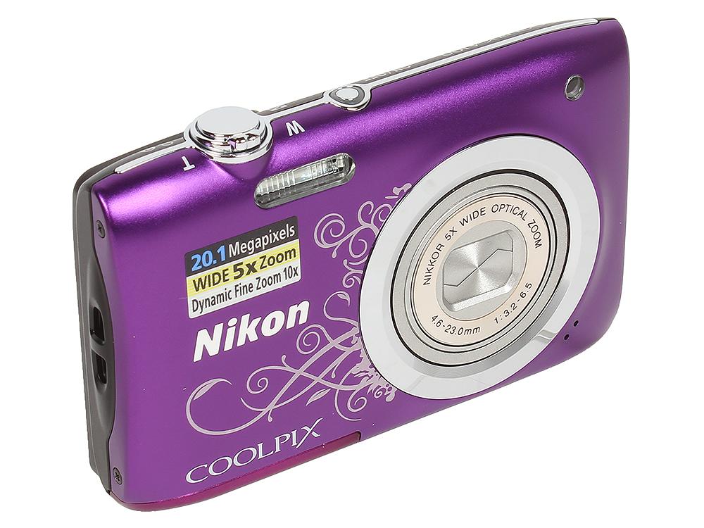цена на Фотоаппарат Nikon Coolpix A100 Purple Lineart (20.1Mp, 5x zoom, SD, USB, 2.6)