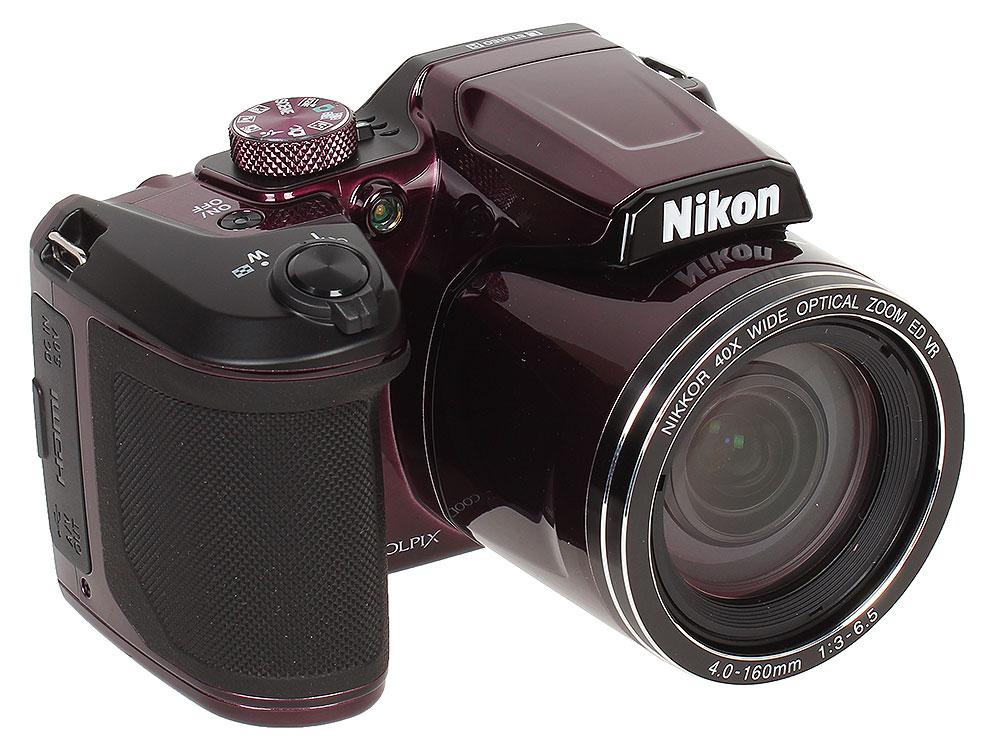 лучшая цена Фотоаппарат Nikon Coolpix B500 Plum (16Mp, 40x zoom, 3
