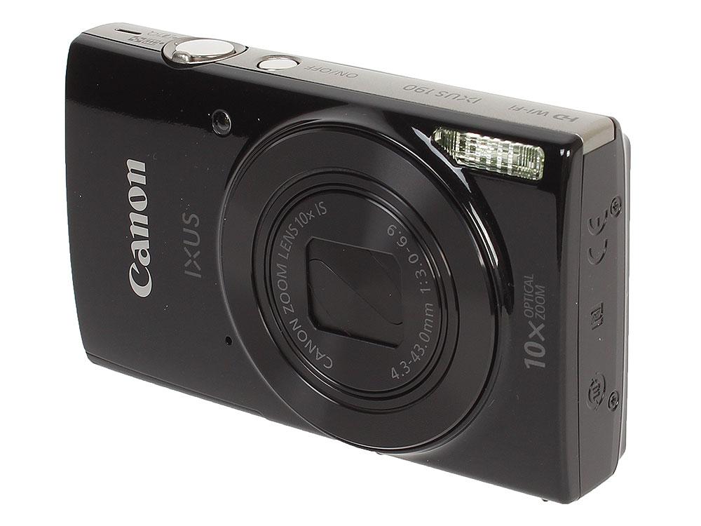 Фотоаппарат Canon IXUS 190 Black 20Mp, 10x Zoom, 3.0 SD фотоаппарат canon как веб камера