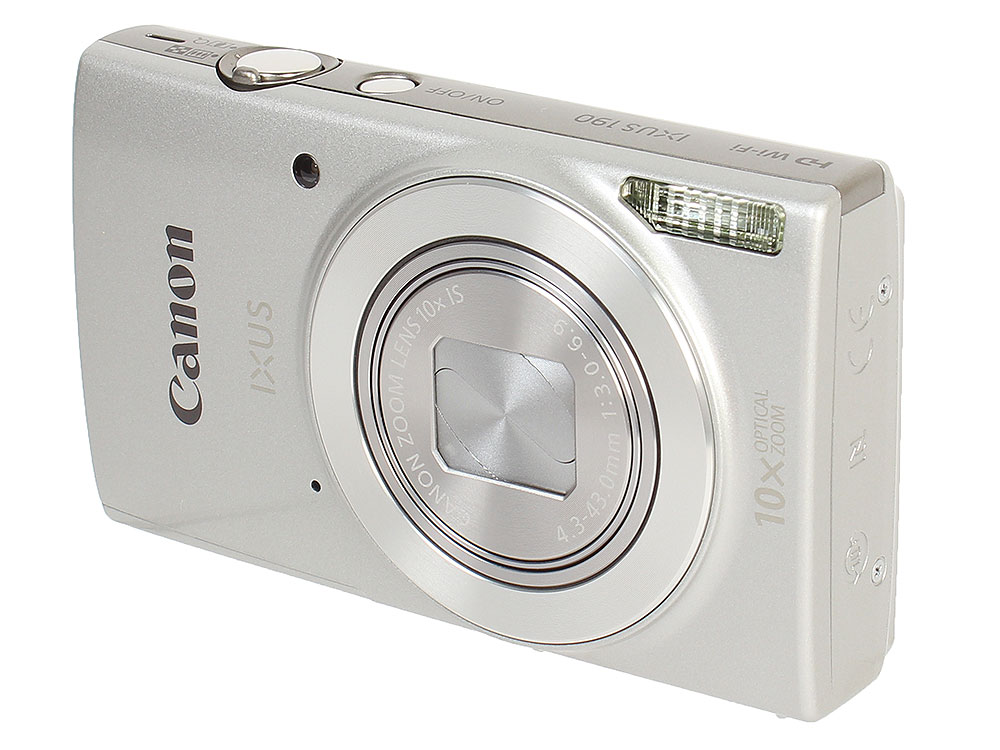 Фотоаппарат Canon IXUS 190 Silver (20Mp, 10x Zoom, 3.0 SD) чехол canon dcc 1370 для серии ixus