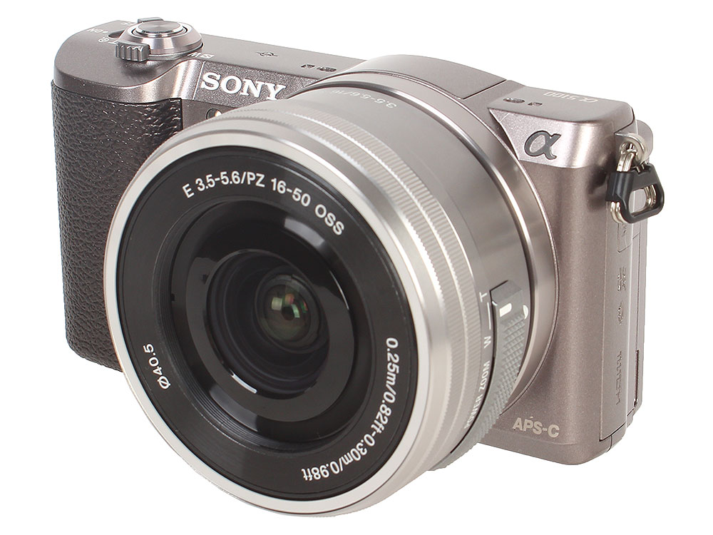Фотоаппарат Sony ILCE-5100LT (ILCE5100LT.CEC) Brown 24.3 Mp, 23.5 x 15.6 мм / max 6000 x 4000 / 8x zoom / экран 3.0 / 0,344 г фотоаппарат nikon coolpix w300 vqa070e1 black 16 mp 1 2 3 max 4608 x 3456 5x zoom экран 3 0 0 231 г