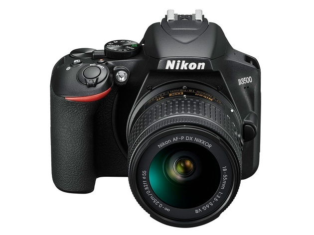 Зеркальный фотоаппарат Nikon D3500 Black KIT 18-55mm P VR (VBA550K001) Black 24.7 Mp, 23.5 x 15.6 мм / max 6000 x 4000 / экран 3.0 / 0,415 г фотоаппарат nikon coolpix w300 vqa070e1 black 16 mp 1 2 3 max 4608 x 3456 5x zoom экран 3 0 0 231 г