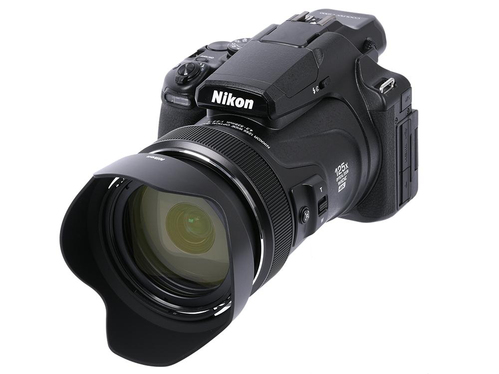 "Фотоаппарат Nikon Coolpix P1000 (VQA060EA) Black 16 Mp, 1/2.3"" / max 4608 x 3456 / 125x zoom / экран 3.15"" / 1,415 г"