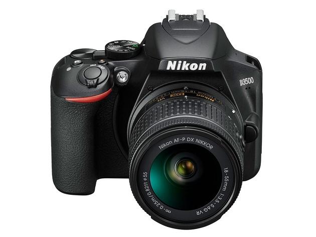 цена на Зеркальный фотоаппарат Nikon D3500 Black KIT AF-P 18-55 II non VR (VBA550K002) Black 24.7 Mp, 23.5 x 15.6 мм / max 6000 x 4000 / экран 3.0 / 0,415 г