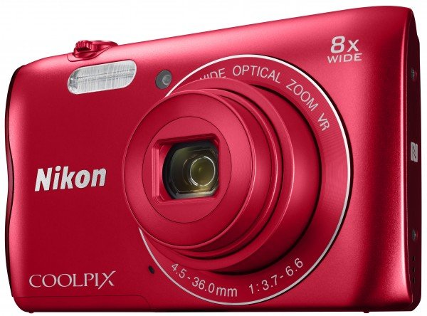 Фотоаппарат Nikon Coolpix A300 Red 20.1Mp, 8x zoom, SD, Wi-Fi, BT, USB, 2.7""