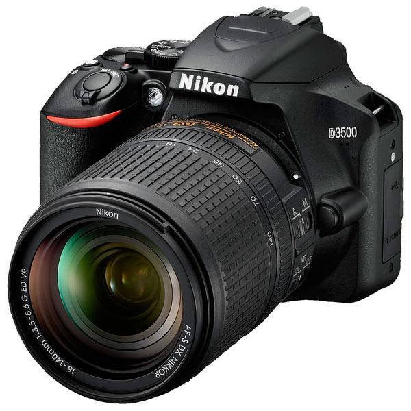 Зеркальный фотоаппарат Nikon D3500 Black KIT 18-140mm P VR (VBA550K004) Black 24.7 Mp, 23.5 x 15.6 мм / max 6000 x 4000 / экран 3.0 / 0,415 г