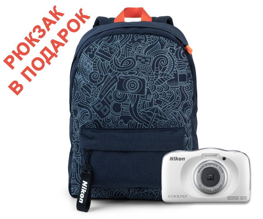Фотоаппарат Nikon Coolpix W150 White Backpack KIT 13.2 Mp, 1/3.1