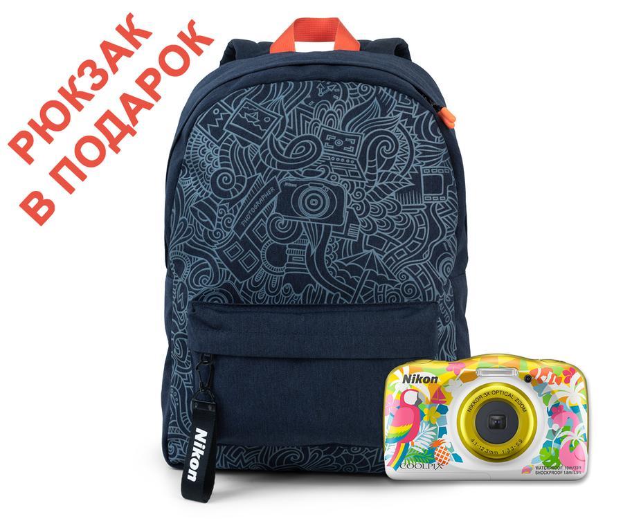 "Фотоаппарат Nikon Coolpix W150 Backpack KIT (VQA114K001) Resort 13.2 Mp, 1/3.1 '' / max 4160 x 3120 / 3x zoom / экран 2.7"" / 0,177 г"