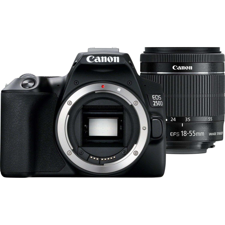 лучшая цена Фотоаппарат Canon EOS 250D KIT Black зеркальный, 24.1Mp, EF18-55 IS STM, 3