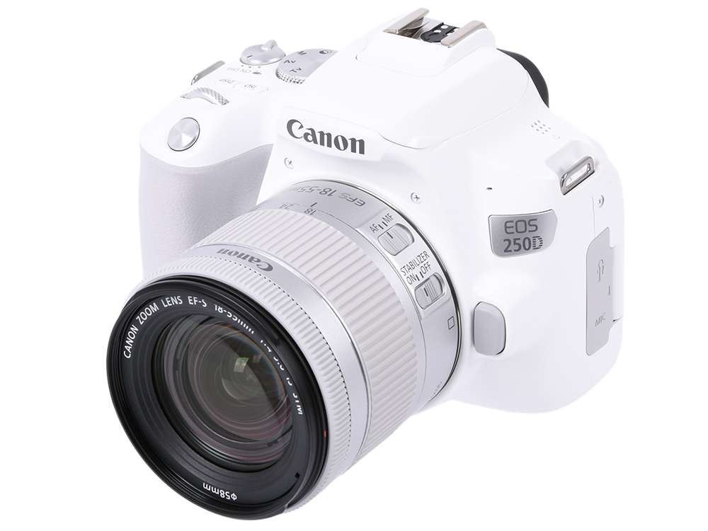 Зеркальный фотоаппарат Canon EOS 250D KIT (3458C001) White 24.1 Mp, 22.3 х 14.9 мм / экран 3.0 / 0,449 г