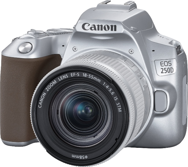Фотоаппарат Canon EOS 250D KIT Silver зеркальный, 24.1Mp, EF18-55 IS STM, 3, 4K, WiFi, ISO25600, SDHC/XC
