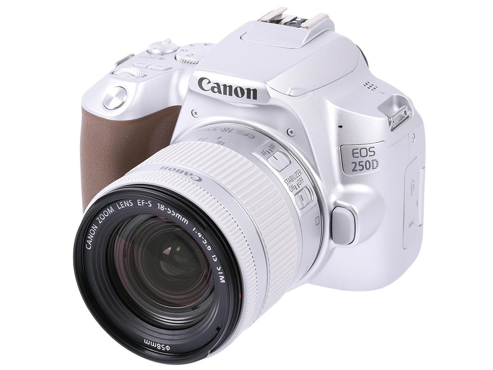 Зеркальный фотоаппарат Canon EOS 250D KIT (3461C001) Silver 24.1 Mp, 22.3 х 14.9 мм / экран 3.0 / 0,449 г