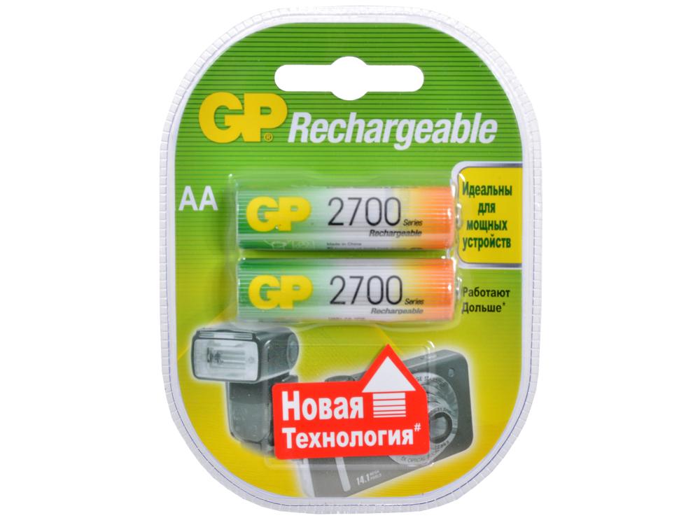 Аккумуляторы GP 2шт, AA, 2700mAh, NiMH (270AAHC) gp 270aahc x 4