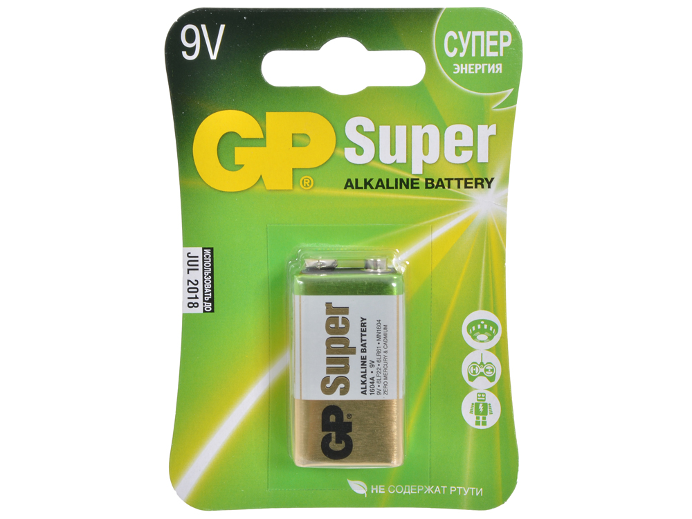 Батарея GP 1604A-CR1 (Крона)
