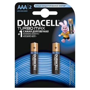Батарейки DURACELL LR03-2BL TURBO (20/60/10800) Блистер 2 шт (AAA) aaa батарейка duracell basic cn lr03 2bl 2 шт