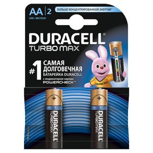 Батарейки DURACELL LR6-2BL TURBO Max (40/120/10200) Блистер  шт (AA)