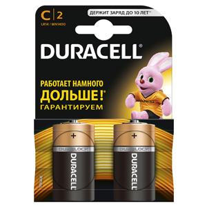Батарейки DURACELL LR14-2BL (20/60/6000) Блистер 2 шт батарейки duracell аа lr6 2bl basic cn 2 шт