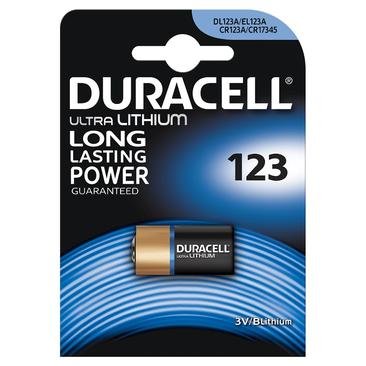 Батарейки DURACELL CR123 ULTRA (10/50/6000) Блистер 1 шт цены