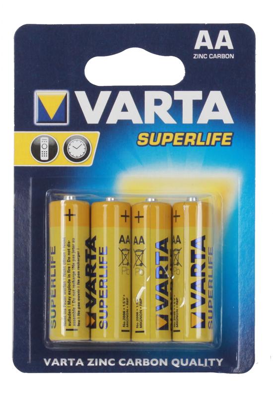 Батарейка VARTA SUPERLIFE АА бл 4 2006113414 батарейка varta max tech с блистер 2шт