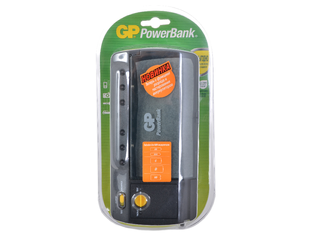 Фото - Зарядное устр. GP PowerBank, 6-15 часов (Универсальное) (GP PB320GS-CR1) зарядное